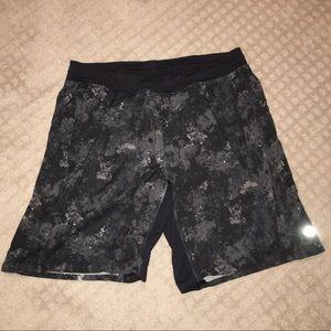 Lululemon Black speckled shorts